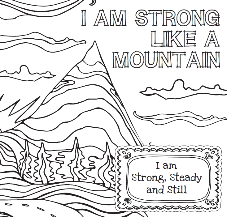 Strong like mountain colouring book